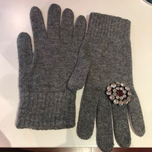 Women Gloves with Crystal
